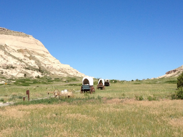 The Oregon Trail cut across Nebraska, at Scott's Bluff.