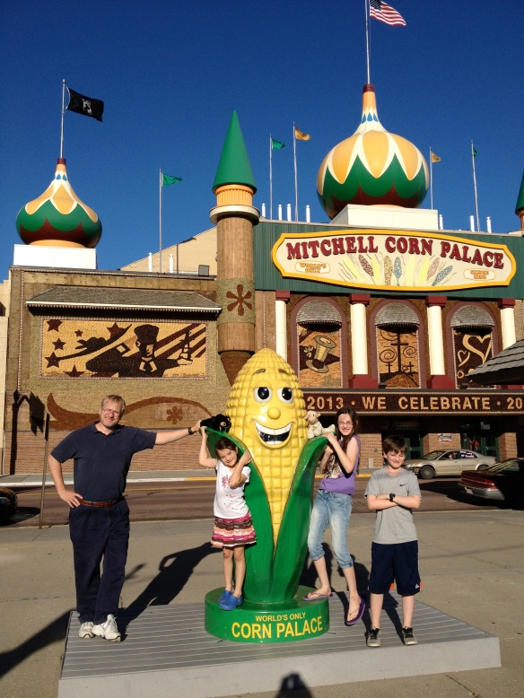 This is indeed a real place. The Corn Palace in Mitchell, SD. It is a wonder to behold. If you've never been, you should go.