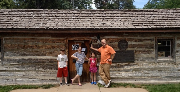 We got the complete tour of this real life Pony Express station--all one room of it!