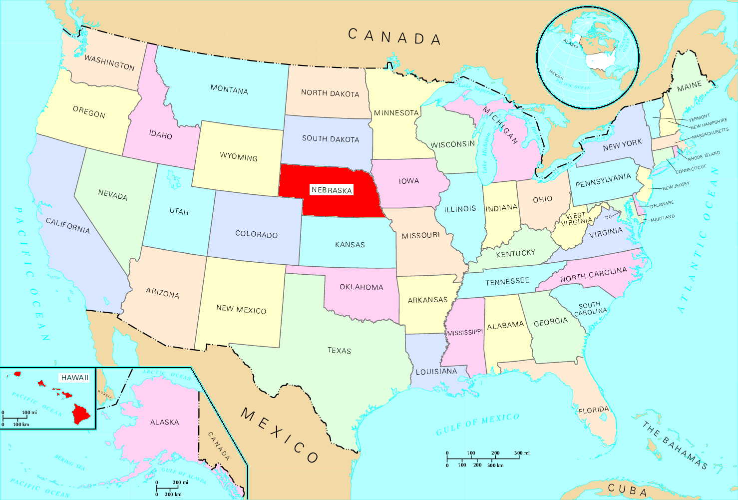 List Of US States By Traditional Abbreviation Simple English Of - Map us usa