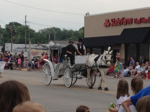 Don't forget the white horse and carriage to go with the white fire truck.