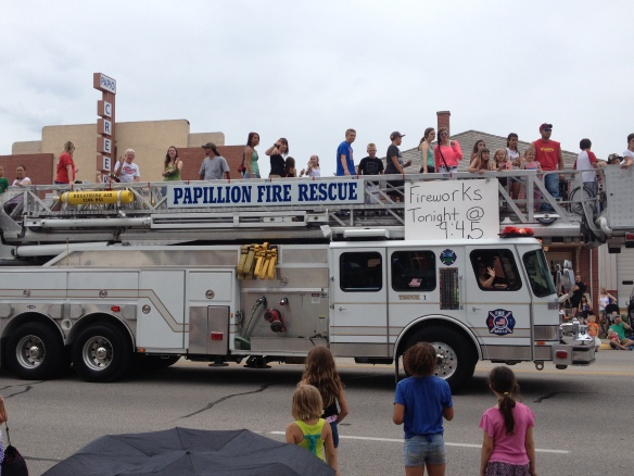 White fire trucks! How cool is that?