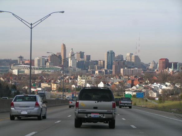 This is the view of Cincinnati I saw, but I did not take this picture. I was busy driving.