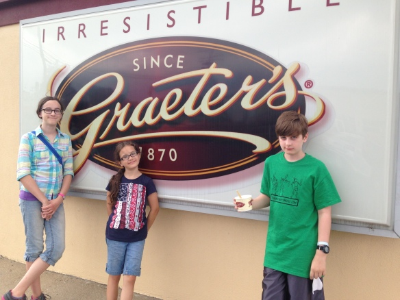 Gratuitous picture of our trip to Graeter's. Because what trip to Cincinnati is complete without a trip to the world's best ice cream place?!