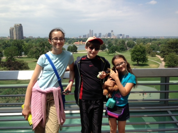 We went to the Denver Museum of Nature and Science. You can see Denver in the background.