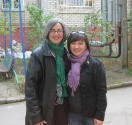 I visited my former roommate in Ukraine a few years ago. She somehow looked almost exactly like she did when we lived in that apartment building behind us 15 years ago. How could that happen?!