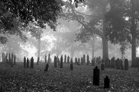 Scary cemetery! No way I'd work in THIS one!