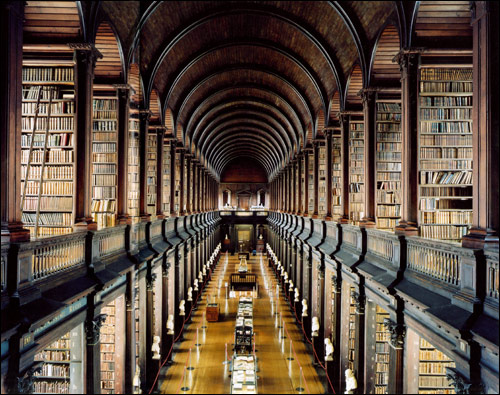 Maybe if my library looked like this one at Trinity College in Dublin, Ireland, I would have enjoyed it more.