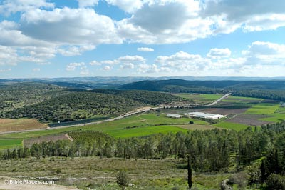 The Elah Valley, where the story took place.