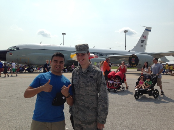 "We got to spend a fantastic day at the air show with up front ""seats"" since we have connections in the Air Force!"