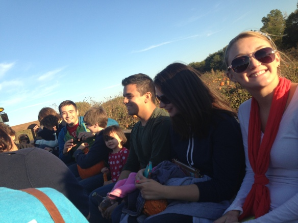 Hayride at the pumpkin patch
