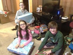 The heavenly day when they received their very own laptops--a combined Christmas gift from grandparents and parents and worth every penny!