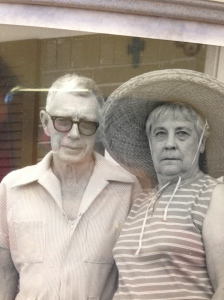 My grandparents. My grandma was being silly wearing that crazy hat.